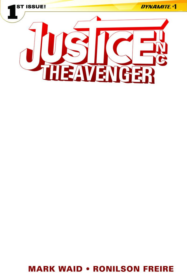 Justice Inc.: The Avenger #1 (Blank Authentix Cover)