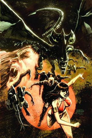 Aliens / Vampirella #6 (Rare Hardman Virgin Cover)