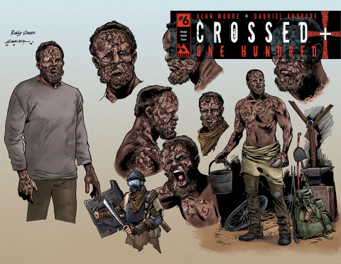 Crossed + One Hundred #6 (Design Sketch Cover)