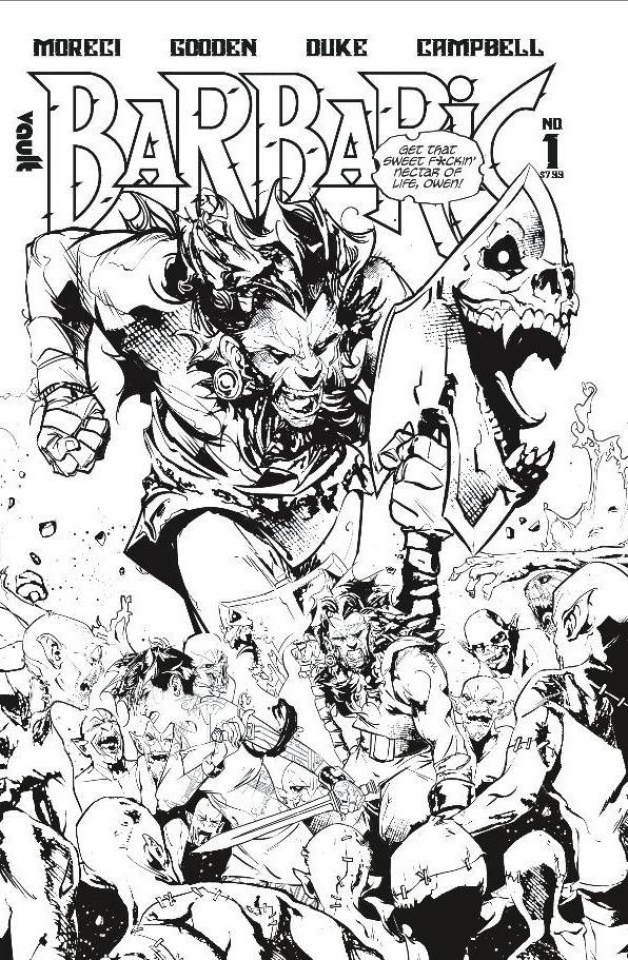 Barbaric #1 (B&W Edition Cover)