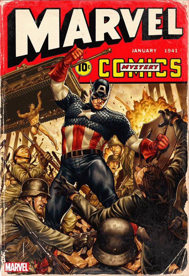 Marvel Comics #1000 (Brooks '40s Cover)