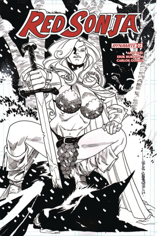 Red Sonja #23 (20 Copy Williams B&W Cover)