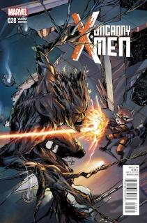 Uncanny X-Men #28 (Rocket Racoon & Groot Kristantina Cover)