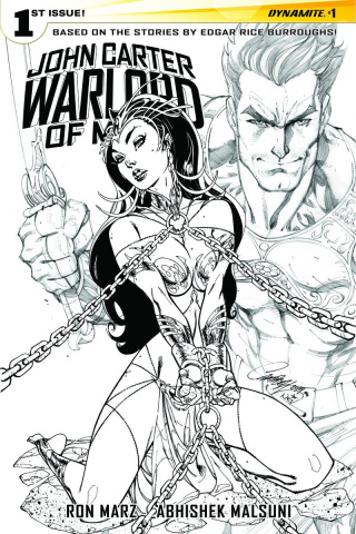 John Carter: Warlord of Mars #1 (50 Copy Campbell B&W Cover)
