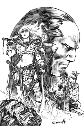 Red Sonja: Birth of the She-Devil #4 (11 Copy Davila B&W Virgin Cover)