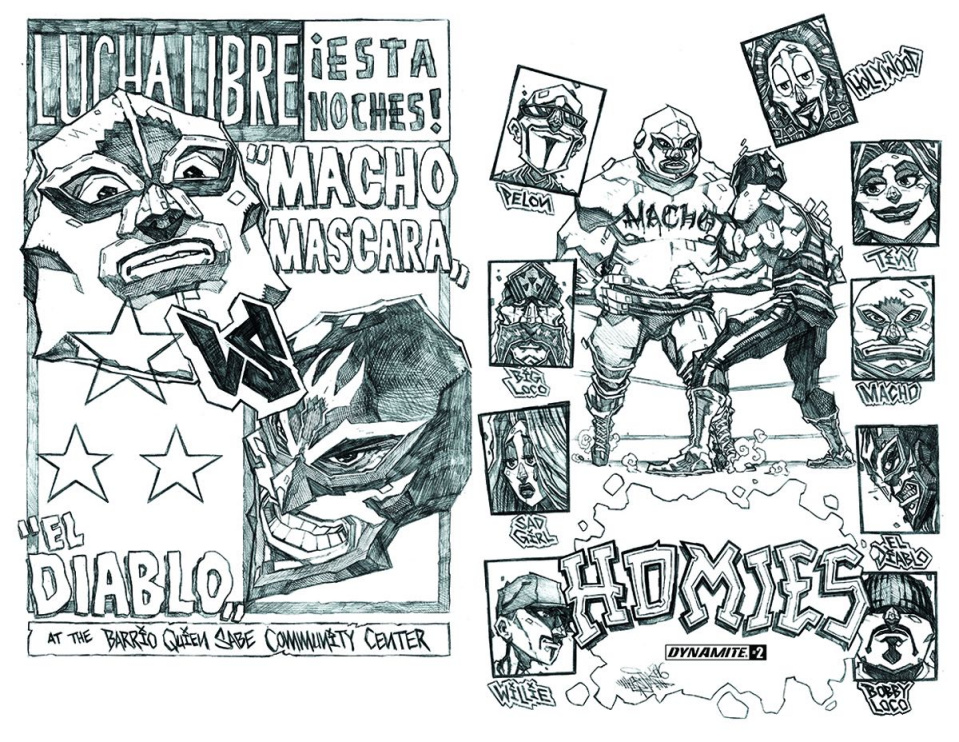 Homies #2 (15 Copy Huerta B&W Cover)