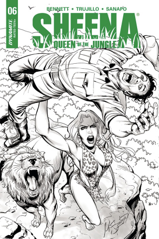 Sheena #6 (20 Copy Santucci B&W Cover)