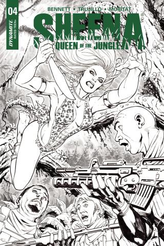 Sheena #4 (20 Copy Santucci B&W Cover)