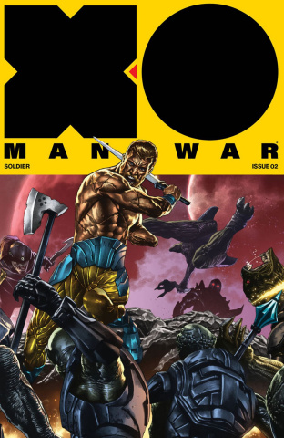 X-O Manowar #2 (20 Copy Interlocking Cover)
