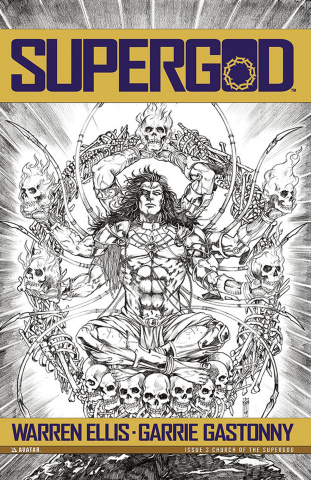 Supergod #3 (Church of the Supergod Cover)