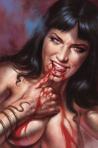 Vampirella #8 (Parrillo Virgin Cover)