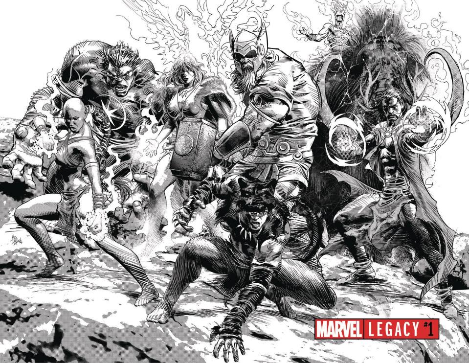 Marvel Legacy #1 (Deodato Wraparound B&W Cover)