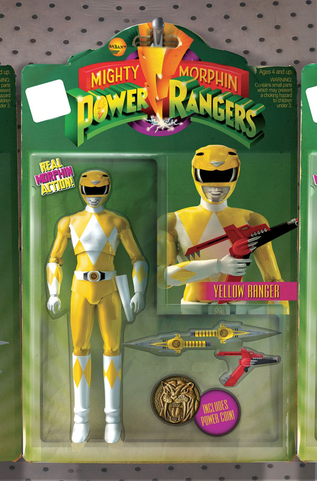 Mighty Morphin' Power Rangers #5 (Unlock Action Figure Cover)