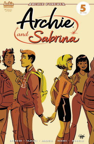 Archie #709 (Archie & Sabrina Charretier Cover)