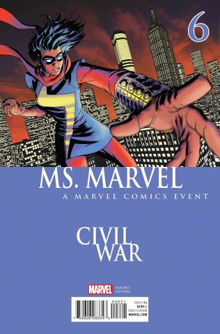 Ms. Marvel #6 (McKone Civil War Cover)