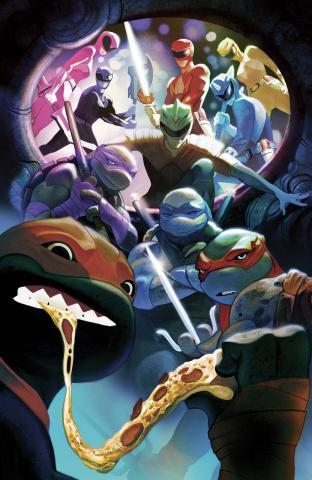 Power Rangers / Teenage Mutant Ninja Turtles #5 (50 Copy Cover)