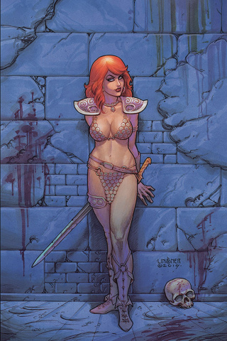 Red Sonja #9 (Linsner Virgin Cover)