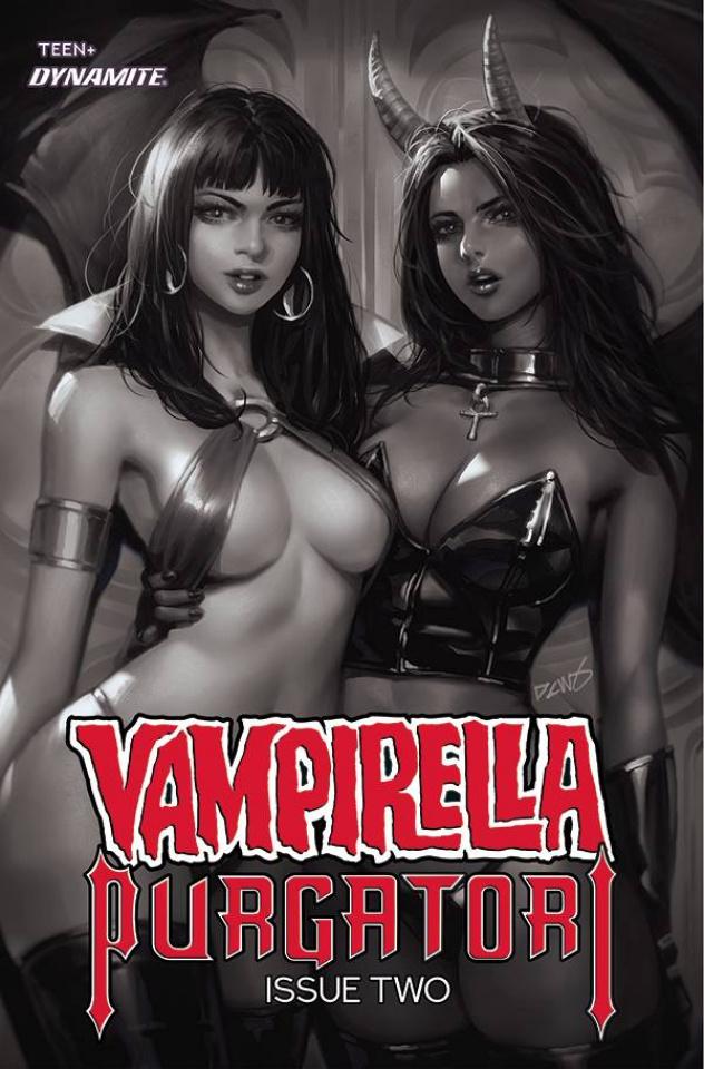 Vampirella vs. Purgatori #2 (30 Copy Chew B&W Cover)