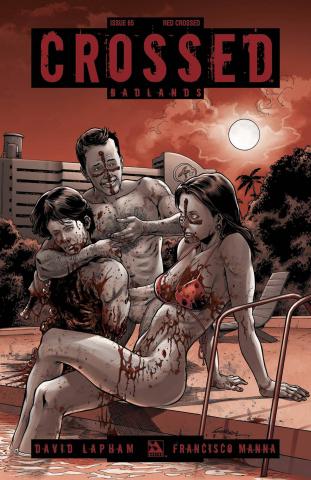 Crossed: Badlands #65 (Red Crossed Cover)