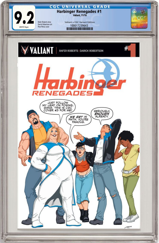Harbinger: Renegade #1 (CGC Replica Perez Cover)