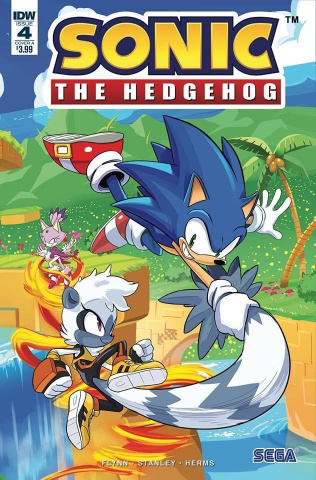 Sonic the Hedgehog #4 (Hesse Cover)
