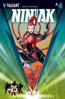 Ninjak #4 (25th Anniversary Sandoval Cover)