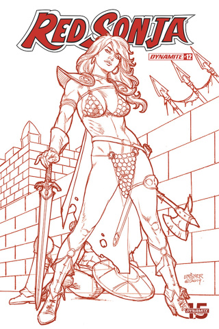 Red Sonja #12 (25 Copy Linsner Tint Dressed Cover)