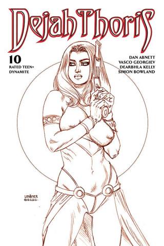Dejah Thoris #10 (Linsner Rare Martian Red Cover)