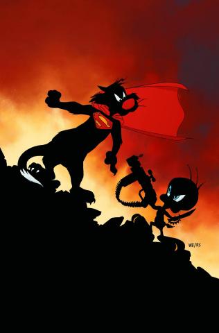 Batman / Superman #26 (Looney Tunes Cover)