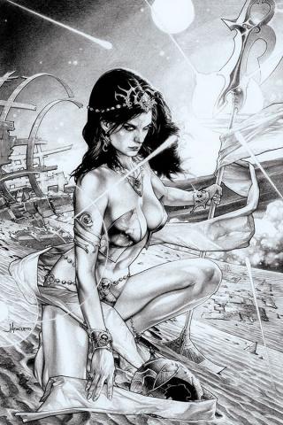 Dejah Thoris #4 (15 Copy Anacleto B&W Virgin Cover)