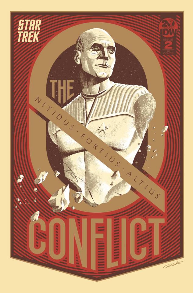 Star Trek: The Q Conflict #2 (10 Copy Caltsoudas Cover)