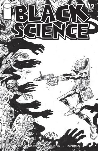 Black Science #32 (B&W Walking Dead #5 Tribute Cover)