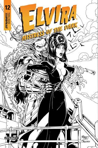 Elvira: Mistress of the Dark #12 (20 Copy Royle B&W Cover)