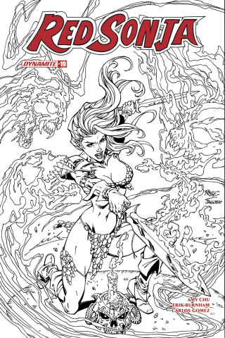 Red Sonja #19 (10 Copy Royle B&W Cover)