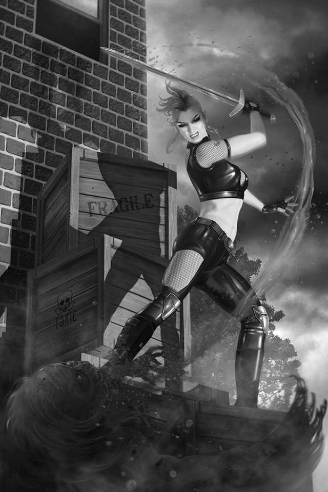 Chastity #5 (15 Copy Nodet B&W Virgin Cover)