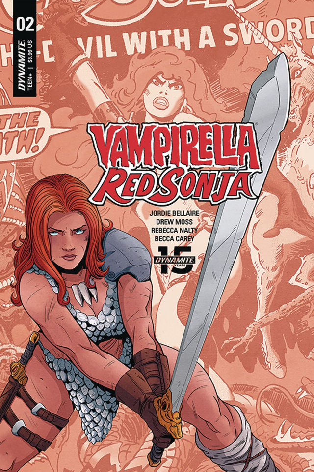 Red Sonja / Vampirella #2 (Moss Then & Now Cover)