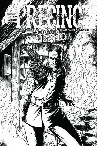 The Precinct #1 (10 Copy Robertson B&W Cover)