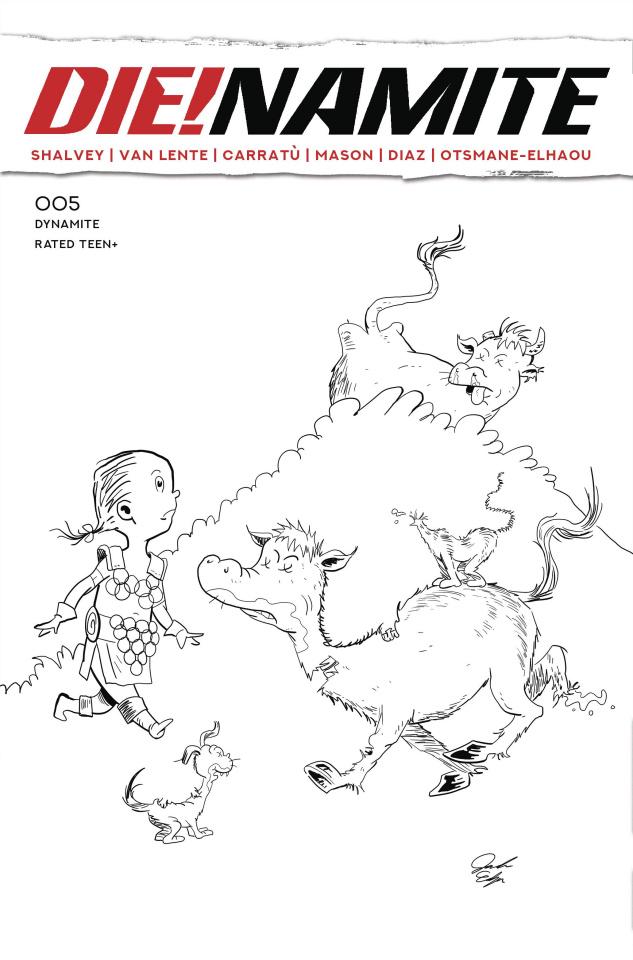 DIE!namite #5 (7 Copy Dr Seuss Homage Line Art Cover)
