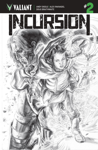 Incursion #2 (B&W Braithwaite Cover)