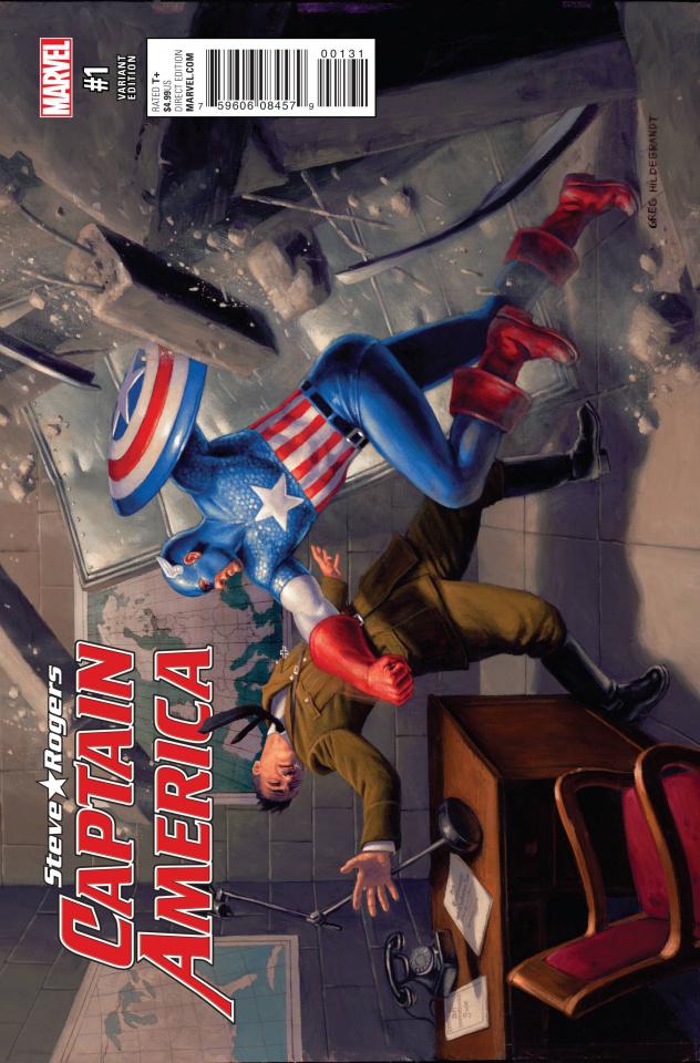 Captain America: Steve Rogers #1 (Captain America 75th Anniversary Cover)