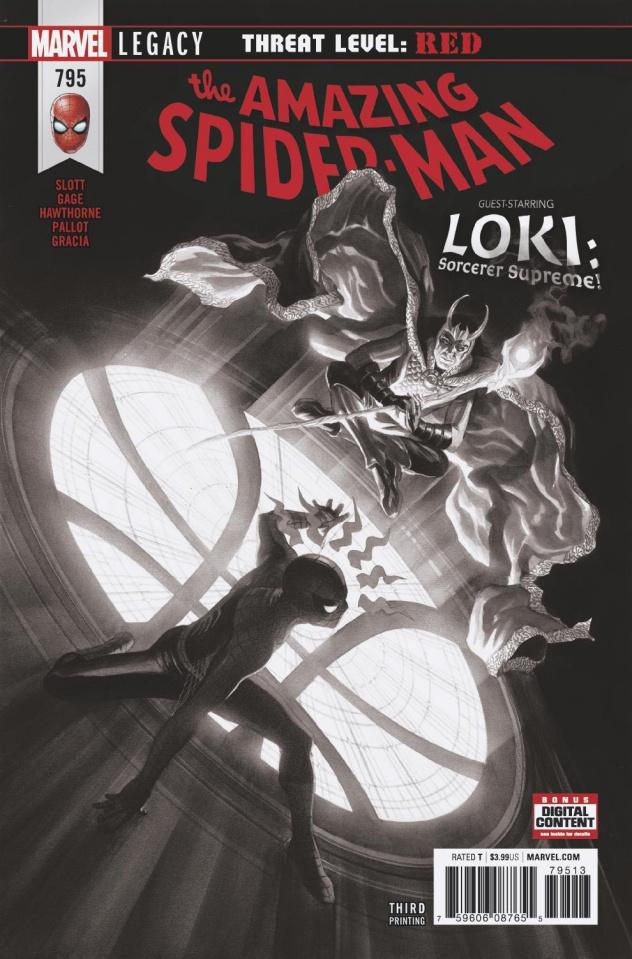 The Amazing Spider-Man #795 (Alex Ross B&W 3rd Printing)