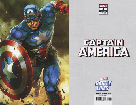 Captain America #4 (Maxx Lim Marvel Battle Lines Cover)