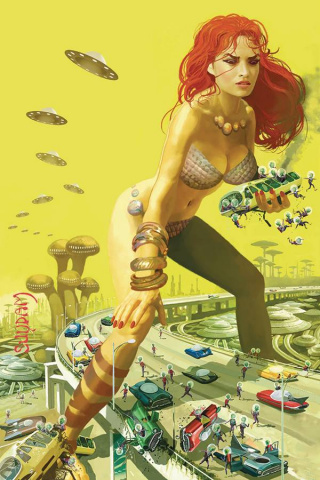 Mars Attacks / Red Sonja #5 (Suydam Virgin Cover)
