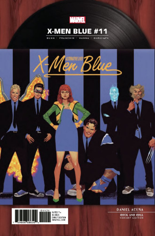 X-Men: Blue #11 (Acuna Rock 'N Roll Cover)