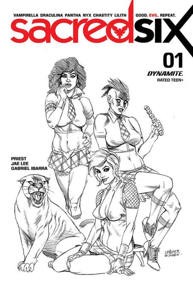 Sacred Six #1 (20 Copy Linsner B&W Cover)