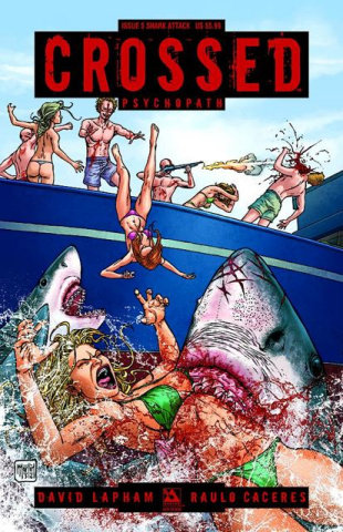 Crossed: Psychopath #5 (Shark Attack Cover)