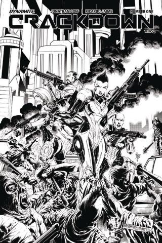 Crackdown #2 (10 Copy Jaime B&W Cover)