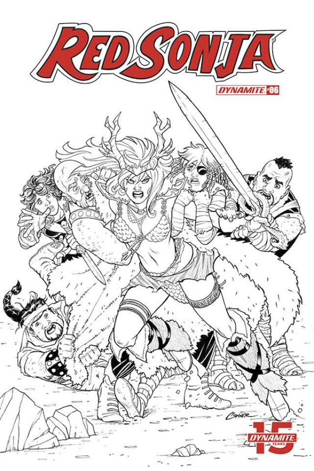 Red Sonja #6 (20 Copy Conner B&W Cover)
