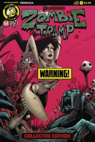 Zombie Tramp: Origins #1 (Gory Risque Cover)