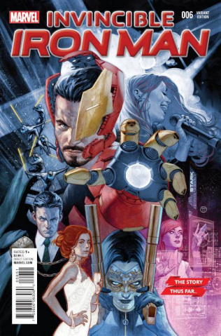 Invincible Iron Man #6 T(edesco Story Thus Far Cover)
